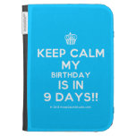 [Cupcake] keep calm my birthday is in 9 days!!  Kindle Cases