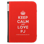 [Crown] keep calm and love pj  Kindle Cases
