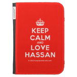 [Crown] keep calm and love hassan  Kindle Cases