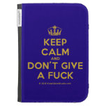 [Dancing crown] keep calm and don't give a fuck  Kindle Cases
