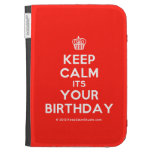 [Cupcake] keep calm its your birthday  Kindle Cases