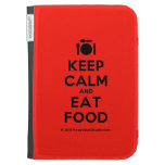 [Cutlery and plate] keep calm and eat food  Kindle Cases
