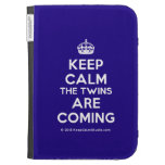 [Crown] keep calm the twins are coming  Kindle Cases