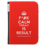 [Crown] f*#k calm today is result  Kindle Cases