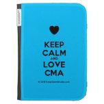 [Love heart] keep calm and love cma  Kindle Cases
