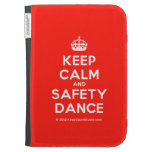 [Crown] keep calm and safety dance  Kindle Cases
