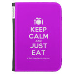 [Cutlery and plate] keep calm and just eat  Kindle Cases