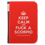 [Crown] keep calm and fuck a scorpio  Kindle Cases