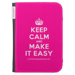 [Crown] keep calm and make it easy  Kindle Cases