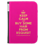 [Knitting crown] keep calm and buy some hair from xsquisit  Kindle Cases