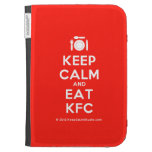 [Cutlery and plate] keep calm and eat kfc  Kindle Cases