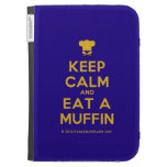 [Chef hat] keep calm and eat a muffin  Kindle Cases