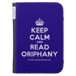 [Crown] keep calm and read oriphany  Kindle Cases