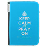 [Crown] keep calm and pray on  Kindle Cases