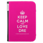 [Crown] keep calm and love dre  Kindle Cases