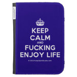 [Crown] keep calm and fucking enjoy life  Kindle Cases