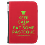 [Chef hat] keep calm and eat some pasteque  Kindle Cases