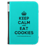 [Crown] keep calm and eat cookies  Kindle Cases