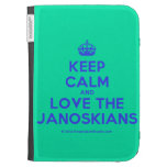 [Crown] keep calm and love the janoskians  Kindle Cases