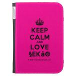 [Crown] keep calm and love §ekå®  Kindle Cases