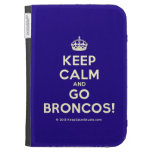 [Crown] keep calm and go broncos!  Kindle Cases