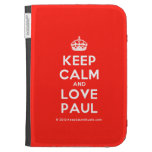 [Crown] keep calm and love paul  Kindle Cases