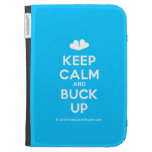 [Two hearts] keep calm and buck up  Kindle Cases