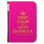 [Crown] keep calm and love shareya  Kindle Cases
