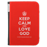 [Cupcake] keep calm and love god  Kindle Cases