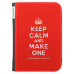 [Crown] keep calm and make one  Kindle Cases