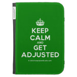 [Crown] keep calm and get adjusted  Kindle Cases