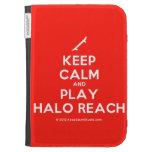 [Skateboard] keep calm and play halo reach  Kindle Cases
