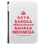 [Crown] saya bangga menggunakan bahasa indonesia  Kindle Cases