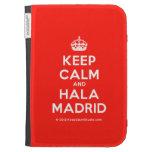 [Crown] keep calm and hala madrid  Kindle Cases