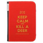 [UK Flag] keep calm and kill a deer  Kindle Cases