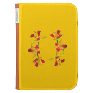 Kindle cover with Orange Spotted Lip Orchid