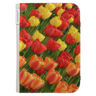 Kindle e-reader case cover with spring tulip print case for kindle