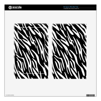 Kindle Fire Black and White Zebra Print Skin Cover