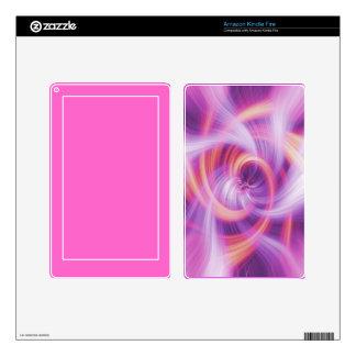 Kindle Fire Skin in Purple Swirl
