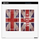 Kindle Fire Skin -Keep Calm and Read On Union Jack