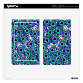 Kindle Fire Skin Peacock Feather Pattern