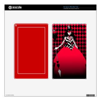 Kindle Fire skin Queen of Hearts
