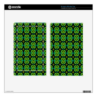 Kindle Fire Skin with Fun Green Pattern