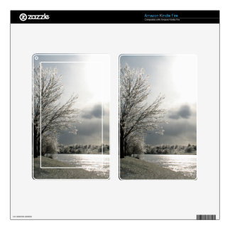 Kindle Fire skin with photo of winter landscape