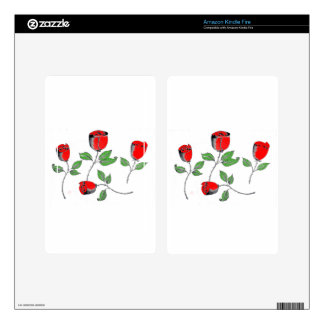 Kindle Fire Skin with Roses
