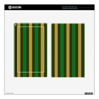 Kindle Fire Skin with Stripes Fun
