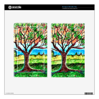 Kindle Fire Skin with Tree Art