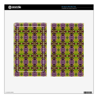 Kindle Fire Skins with Olive Pattern