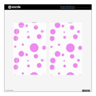 Kindle Fire Skins with Polka-Dot Design