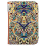 Kindle Folio Drawing Floral Zentangle Kindle Folio Cases
